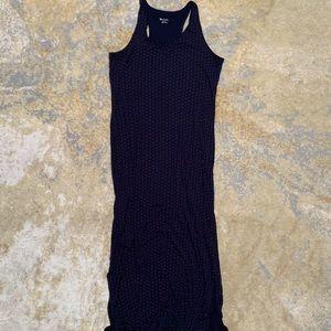 Merona Maxi Dress Dark Blue And Pink